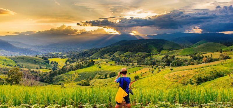 Que faire et voir à Chiang Dao - Vue sur les montagnes et les rizières