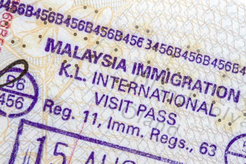 visado y vacunas para viajar a malasia