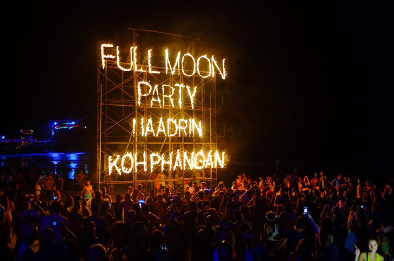 Calendario Full Moon Party 2019