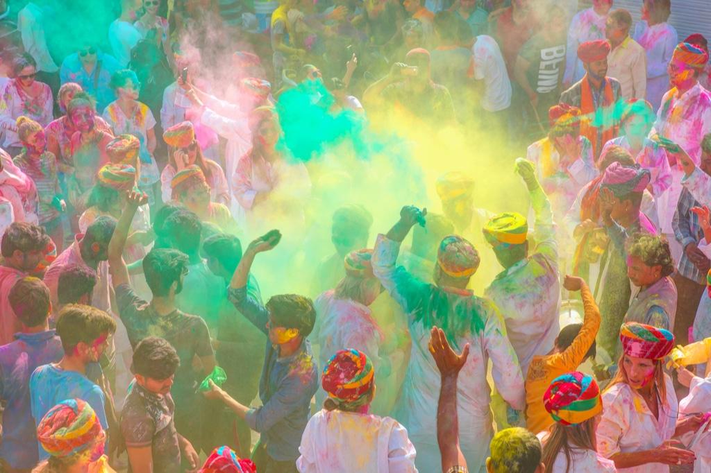 Mejores Lugares Para Celebrar El Holi Festival En India 2020